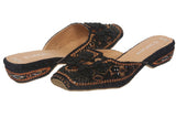 JOHN FASHION Embroidery Chinese knot Beads Sandal
