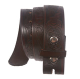 Snap On Eagle Embossed Leather Casual Belt Strap
