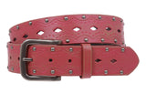 Snap on Studded Vintage Embossed Jean belt