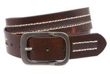Snap on Antique Silver Hardware Vintage Leather Jean Belt
