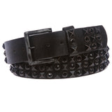 Snap On Cowhide Rhinestone Punk Rock Star Distressed Studded Leather Bling Belt