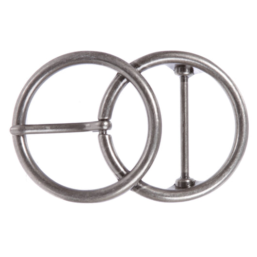 Single Prong Round Double Circle Knot Belt Buckle
