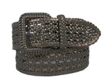 2 Inches Wide Hand Made Braided Square Buckle Belt