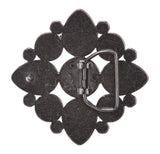 Perforated Flower Stone Belt Buckle