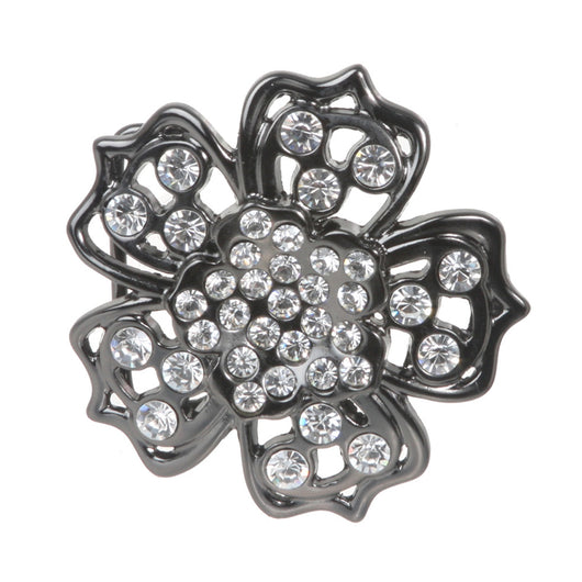 Five Petals Rhinestone Flower Belt Buckle