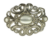 Ladies Oval Rhinestone Flower Cut-out Belt Buckle