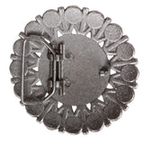 Metal Beaded Flower Belt Buckle