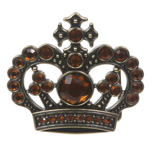 Rhinestone Crown Belt Buckle