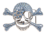 Rhinestone Skull & Crossbones Pirate Belt Buckle