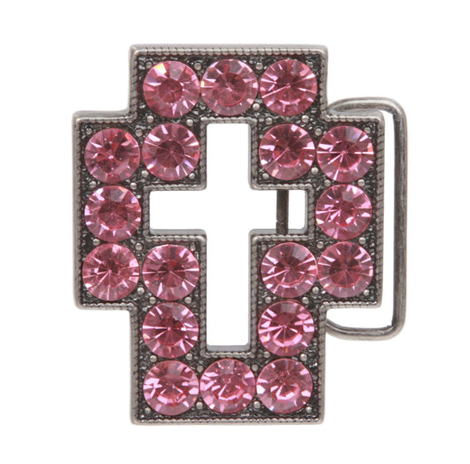 Rhinestone Cross Belt Buckle