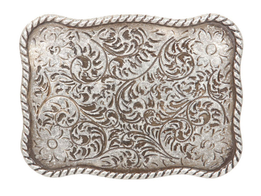 Western Floral Antique Belt Buckle