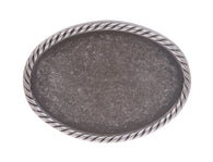 Plain Oval Pewter Belt Buckle