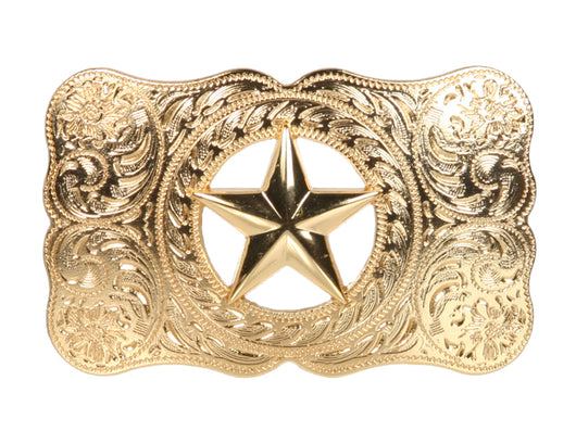 Western Perforated Star Belt Buckle
