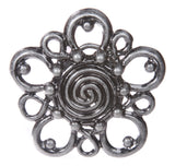 Western Perforated Flower Belt Buckle