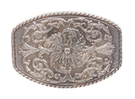 Western Flower Belt Buckle