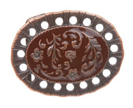 Western Flower Bronze Belt Buckle