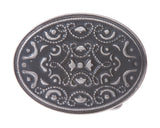 Oval Western Flower Belt Buckle