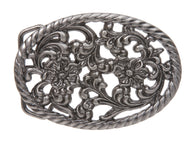 Oval Perforated Flower Belt Buckle