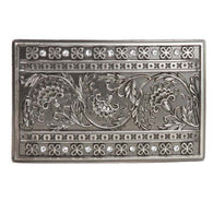 Western Rectangular Rhinestone Flower Engraving Belt Buckle