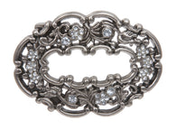 Western Rhinestone Flower Belt Buckle