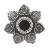 "1 3/4"" Rhinestone Sunflower Elastic Sequent Metal Stretch Belt"