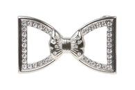 Perforated Bow Tie Rhinestone Belt Buckles