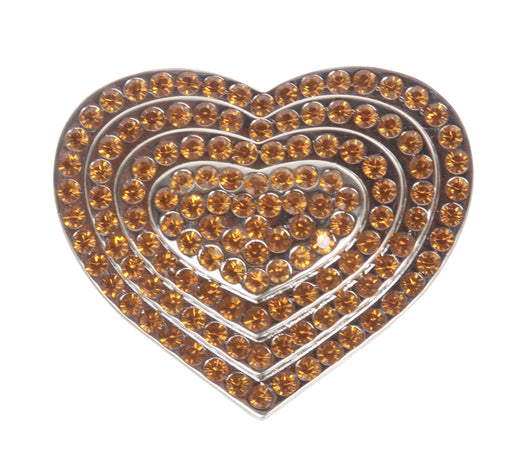 Rhinestone Heart Belt Buckle