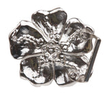 Five Petal Color Flower Rhinestone Belt Buckle