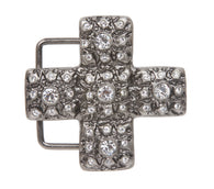 Cross Rhinestone Belt Buckle