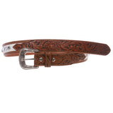 Kids Cowboy Cowgirl Western Rhinestone Belt with Silver Buckle Star Concho