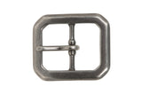 1 1/4 Inch Center Bar Single Prong Solid Brass Hexagon Rectangular Belt Buckle