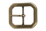1 1/2 Inch Single Prong Hexagon Rectangular Center Bar Belt Buckle