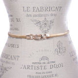 Women's Knot Buckle Skinny Elastic Chain Punk Wedding Belt Piece Stretch Waistband