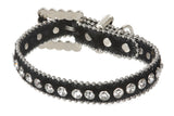 "3/4"" (20 mm) W Faux Zebra/Leopard Fur Rhinestone Dog Collar"