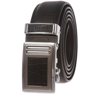 Men's Leather Automatic Slide Ratchet Dress Belt