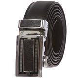 Men's Ratchet Dress Belt with Automatic Leather Fashion Buckle