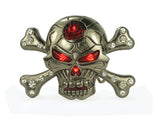 Rhinestone Skull Cross Bone Flash Bing Buckle