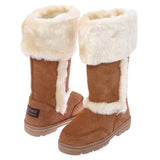 NINO Women's Mid-calf Cowhide Faux Shearling Boot