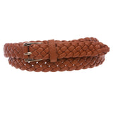 "Women's 1"" Skinny Braided Woven Non Leather Belt"