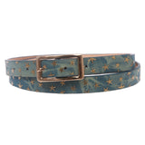 Women's Skinny Gold Star Embossed Fashion Jean Belt