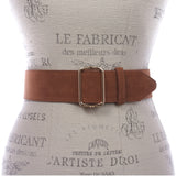 "Women's 2"" Wide High Waist Pull-Through Prong-less Plain Soft Suede Dress Belt"