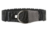 "2"" Wide High Waist Alligator Texture Fashion Stretch Belt"