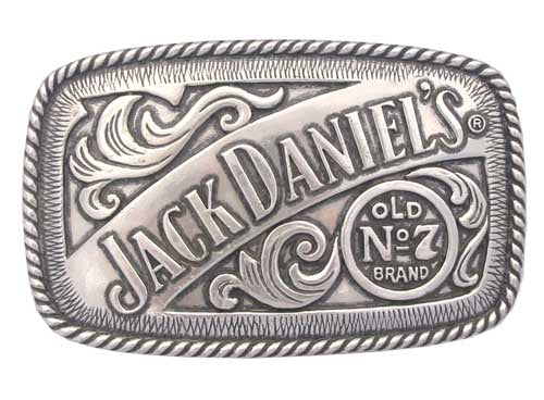 Jack Daniels Rectangular Belt Buckle
