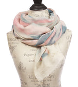 Womens Mix Colored Light Weight Wide Shawl Wrap Cotton Scarf