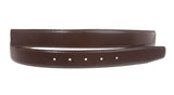 1 1/8 Inch Cut-To-Fit Feather Edged Plain  Leather Belt Strap