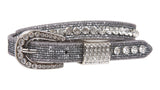 "Kids 3/4"" (20 mm) Western Cowgirl Rhinestone Studded Skinny Belt"