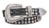 "Kids 1"" (25 mm) Western Cowgirl Rhinestone Cross Studded Skinny Belt"