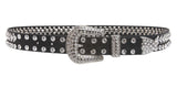 "Kids 1 1/16"" (27 mm) Western Cowgirl Rhinestone Studded Skinny Belt"