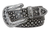 Western Cowgirl Faux Alligator Rhinestone Studded Leather Belt