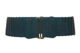 "Women's 3"" Wide High Elastic Waist Belt With Metal Hook Buckle"